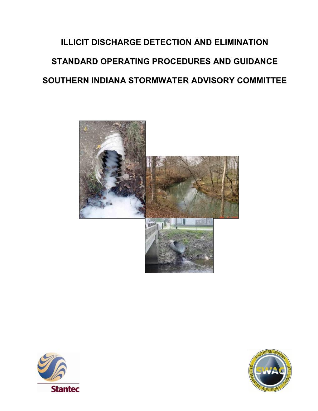 Illicit Discharge Detection and Elimination Standard Operating Procedures (SOP)